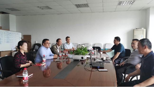 公司实际控制人徐爱龙、总经理张萍华等一行四人前往浙江帅康集团公司